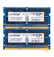 Crucial 2x 8GB 2Rx8 PC3-12800S DDR3 1600Mhz SODIMM RAM Laptop Memory Intel $WE0