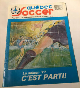 Quebec Soccer Magazibe # 1,1977 French Canadian