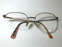 Vintage PIERRE CARDIN 145 Copper Glasses Tortoiseshell Light Brown Metal Frames