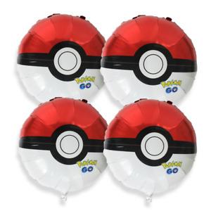 9 pc Pokemon Theme balloon Pikachu Pokeball with 40 inch Number Birthday Party