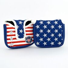 USA Flag Stars & Stripes High MOI Mallet Putter Head cover 19th Hole Custom Shop