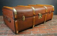Superb Army & Navy Banded Cabin Trunk & Tray Exceptional Condition
