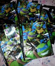 New  lot of 4 reusable ninja turtle bags party size lot bags 8x10
