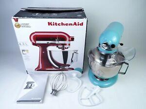 ✨ KitchenAid 4.3L Stand Mixer With Pouring Shield + 3 Attachments - AQUA SKY ✨