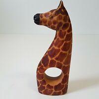 Vintage Wooden Giraffe Napkin Ring African Animal Mammal Tribal Decor