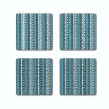 HORIZONTAL BLUE WAVE COASTER SET OF 4, FREE SHIPPING FROM INDIA