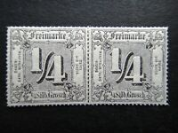 Germany 1862 1863 1865 1866 ? Stamp MNH Pair THURN AND TAXIS 1/4 sgr German STAT
