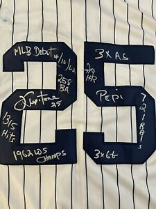 Joe Pepitone Signed Jersey Autograph Auto w 10 Inscriptions Yankees See Pictures