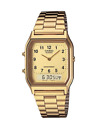 Casio Vintage AQ-230GA-9B Gold Plated Watch Unisex