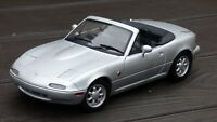 Gate 1:18 Mazda MX5 Silver Miata 1990 Convertible Cabrio Collectible Toy Car