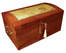 BROADWAY Cigar HUMIDOR High Gloss Burl Wood Finish - Holds up to 150 cigars