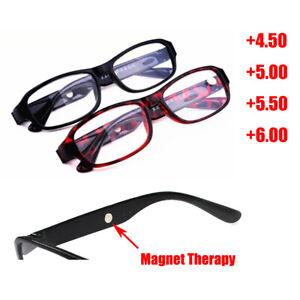 Reading Glasses +4.5 5.0 5.5 6.0 Resin Lens Mens Ladies Plastic Frame Spectacles