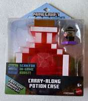 NEW Mattel Minecraft Earth Carry Along Potion Case Set Scannable In-Game Figure