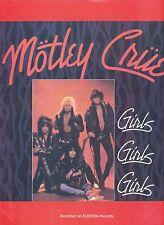 Girls Girls Girls - Motley Crue - 1987 Sheet Music