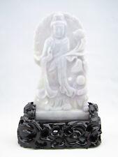 Genuine Natural Lavender Jade Carving Guanyin Kwan Yin Statue #G065