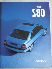Volvo S80 range brochure May 1998