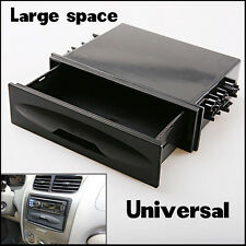 Car Auto Single Din Dash Radio Installation Pocket Kit Large Space Storage Box
