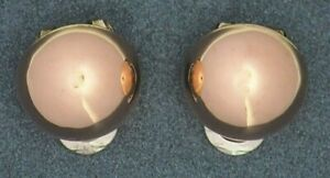 Womens Clip Back Earrings 9ct Rose & White Gold Fine Jewelry Non-Pierced Ears