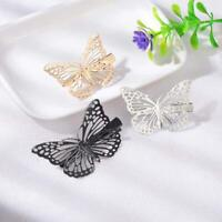 Butterfly Hair Clips Girls Retro Women Vintage Gold Silver Clips Cute