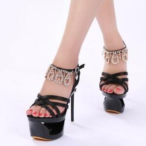 Pleaser Platform Sandals 7 Heels Straps Stripper Women Shoes Fashion Nightclub