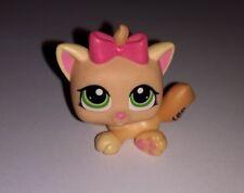 Littlest Pet Shop #1336 Orange Cream Kitten Cat w Green Eyes Pink LPS