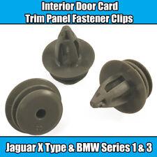 20x Clips For Jaguar X Type Grey Interior Door Card Trim Panel Fastener Plastic