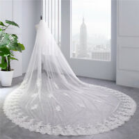 Wedding Veils Cathedral Royal Train Bridal Veil With Comb for Girls Accessories