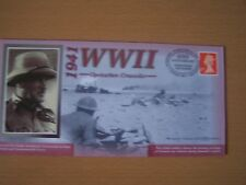 GREAT BRITAIN, 2001,WW11,OPERATION CRUSADER,1941,60TH ANNIV,COVER,EXCELLENT.