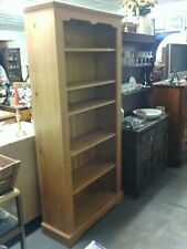Pine book shelves with fitted shelves