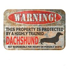 Dachshund Sign Funny Metal Sign Dog warning Sign Funny Doxen sign Dog Lover Gift