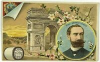 1887 President Carnot France Clark's Mile End Thread Victorian Multi View Card
