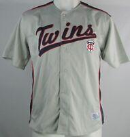 Minnesota Twins Dynasty MLB Men's Big & Tall Gray Button Up Jersey