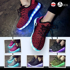 Unisex LED Shoes Lace Up Shoes Men Women USB Charger Sportswear Casual Trainers