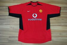 MANCHESTER UNITED 2002-2003-2004 HOME FOOTBALL SHIRT JERSEY NIKE VODAFONE LARGE