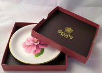 Collectable decorative Spode plate England made pink flower box fine bone China