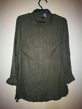 DIVIDED BY H&M LONGSLEEVE WITH EPAULET VISCOSE FABRIC SHIRT TAG SIZE 2