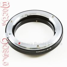 Nikon F mount AI Lens to Olympus OM 4/3 Mount Adapter E-1 3 5 30 300 450 520 600