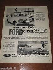 AL6=1963=FORD CONSUL CAPRI 315=PUBBLICITA'=ADVERTISING=WERBUNG=