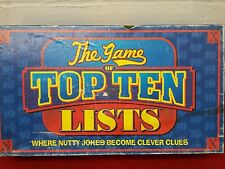THE GAME OF TOP TEN LISTS Complete  Box has shelf wear,  intact.