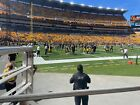 2 Front Row A Tickets Pittsburgh Steelers Seattle Seahawks LL Section 106 AISLE