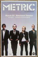 METRIC 2010 Gig POSTER Portland Oregon Fantasies Concert