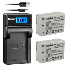 Kastar 2x NB-7L NB-7LH Battery + Charger for Canon Powershot G10 G11 G12 SX30 IS