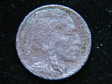 1914-D 5C Buffalo Nickel Rare Key Date Full Date Shows corroded