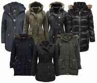 BRAVE SOUL LADIES WINTER COAT HOODED PARKA PADDED WOMENS QUILTED JACKET WINTER
