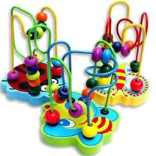 Kids Baby Colorful Wooden Mini Around Beads Educational Game Toy