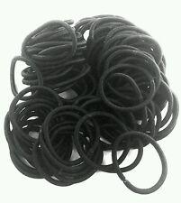 60pcs Elastic Rope Womens Fashion Hair Ties Ponytail Holder Hairbands Black CB