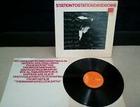 David Bowie ‎– Station To Vinyle 30.5cm LP GB 1st A1E/B1E Press + Insertion