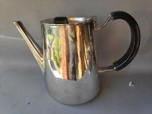 DAVID MELLOR FANFARE COFFEE POT MCM 1959 WALKER & HALL SILVER PLATE Designer