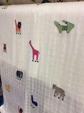 Oltre 12 M di Cotone Voile Tessuto Giungla Decorativi VOYAGE Giraffa Leone Coccodrillo