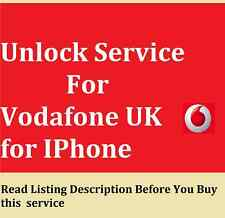 Unlock service for Vodafone UK for Iphone SE 6 6 plus 6s 6s+ phone no needed